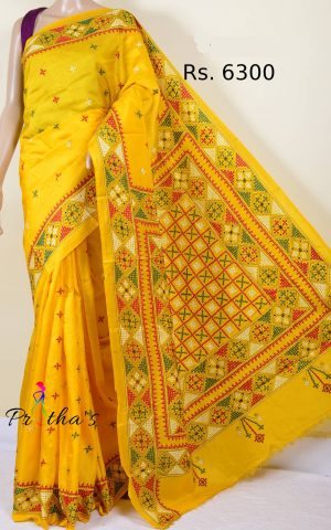 gujarati stitch saree