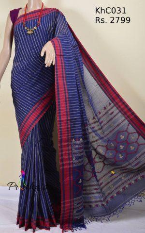 Khadi cotton Jamdani saree