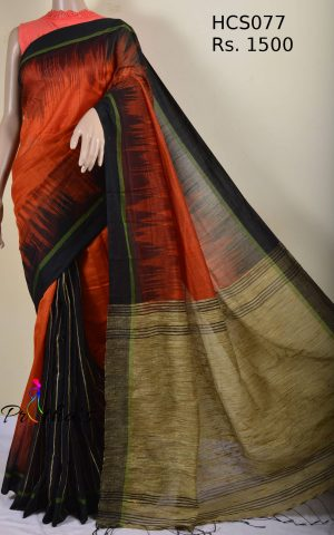 handloom cotton-silk saree