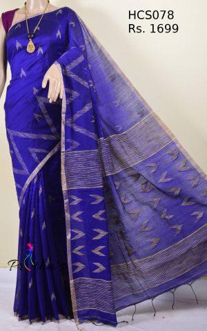 handloom cotton-silk saree