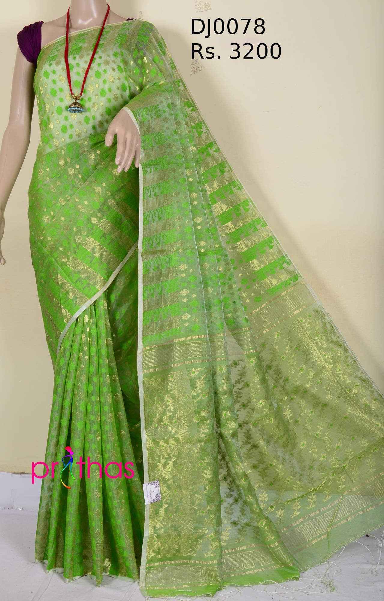 6a6e2f1742 Soft Dhakai Jamdani Saree DJ0078 – Prithas